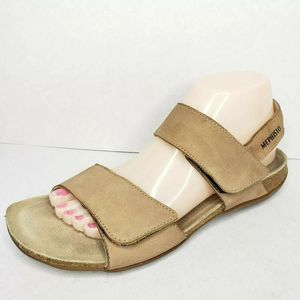 MEPHISTO Air Relax Tan Leather Slingback Sandals